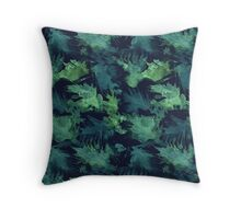 Tropical Jungle Print Throw Pillow