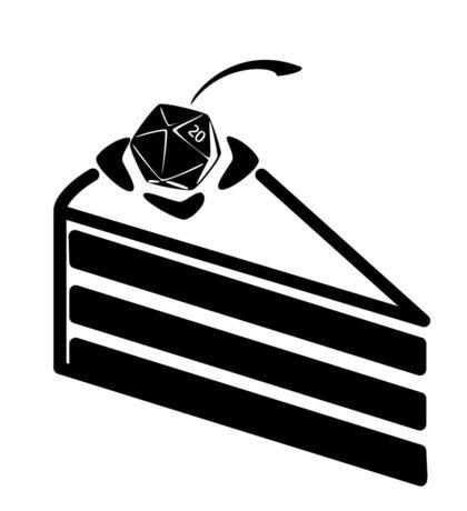 The Cake is a Die Sticker