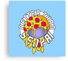 Pizza is Better Than Senpai! Canvas Print