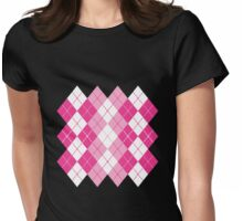 Pink Argyle Design Womens Fitted T-Shirt