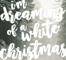 White Christmas Card Sticker