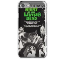 The Night Of The Living Dead Zombie Movie Poster iPhone Case/Skin