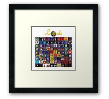 Basketball Legends Framed Print