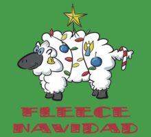 Fleece Navidad One Piece - Short Sleeve