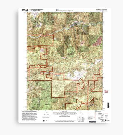 USGS TOPO Map California CA Washington 295648 2000 24000 geo Canvas Print