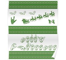 Merry Christmas - American Sign Language Poster
