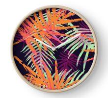 Bright Leaf Design Clock