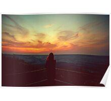 Vintage sunset Poster