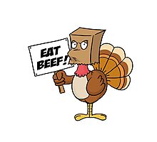 Funny Eat Beef Turkey Woble Thanksgiving Christmas Gift T-Shirt Photographic Print