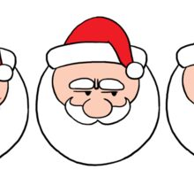Santa Emoji Christmas Holiday Family New Year Gift T-Shirt Sticker
