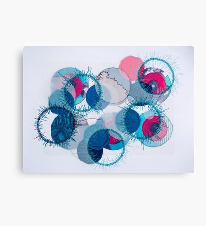 stitched circles Canvas Print