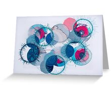 stitched circles Greeting Card
