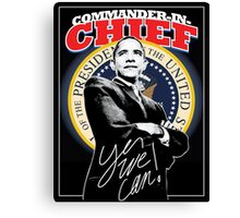 Commander In Chief Canvas Print
