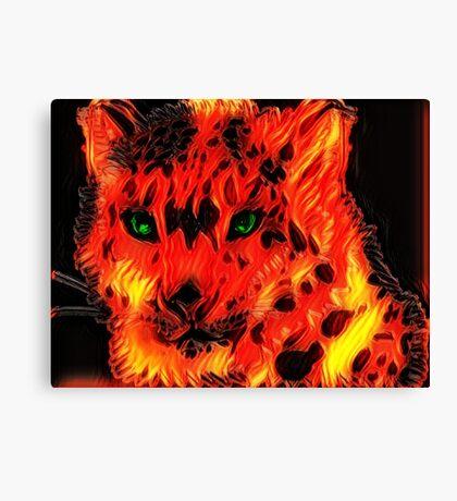 Fire Cat Canvas Print