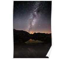 Nightscape at Grimselpass Poster