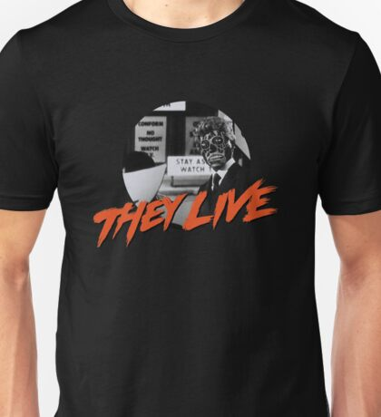 THEY LIVE  - ALIEN - T-SHIRT - OBEY - CONSUME - WATCH TV - WORK - REPRODUCE - THIS IS YOUR GOD Unisex T-Shirt