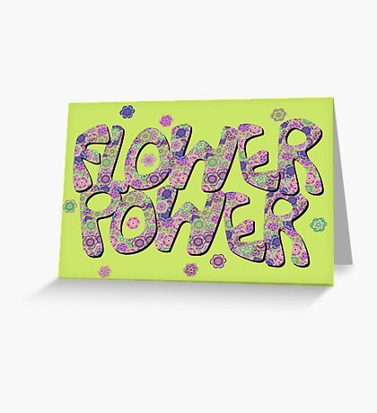 Floral Riot - Pink Greeting Card