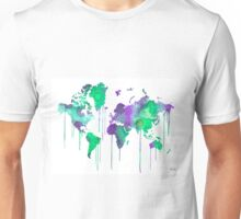 Green WATERCOLOR MAP Unisex T-Shirt