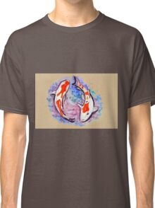 Watercolor painting of koi fish in water Classic T-Shirt