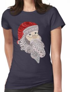 Santa Claus Womens Fitted T-Shirt