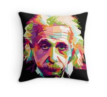 Albert Einstein Genius Space Cosmos Galaxy Universe Throw Pillow