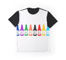 Fun colorful Beer Bottles Graphic Graphic T-Shirt