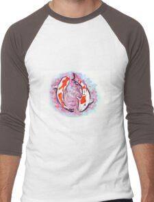 Watercolor painting of koi fish in water Men's Baseball ¾ T-Shirt