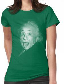 Albert Einstein Genius Tongue Funny Womens Fitted T-Shirt