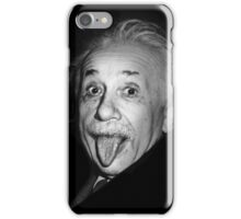 Albert Einstein Genius Tongue Funny iPhone Case/Skin