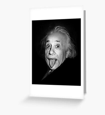 Albert Einstein Genius Tongue Funny Greeting Card