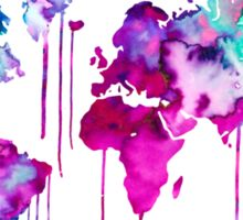 Blue Purple WATERCOLOR MAP Sticker
