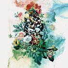Bird in Flowers by RIZA PEKER