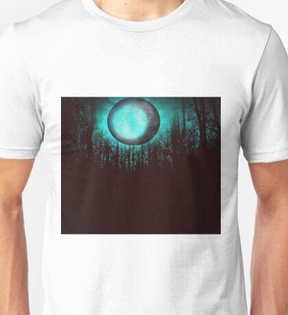 GALAXY, MOON, TREES. Unisex T-Shirt