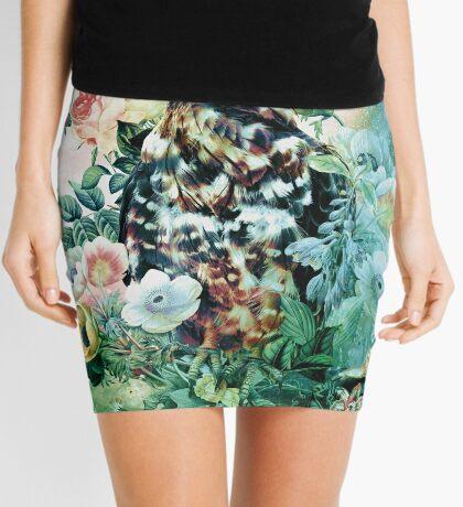 Bird in Flowers Mini Skirt