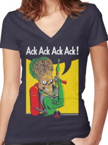 We Can Attack It Women's Fitted V-Neck T-Shirt