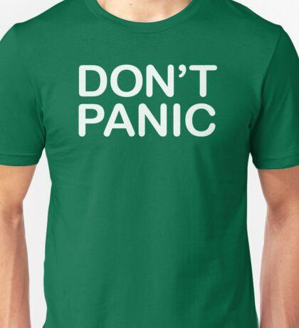 DON'T PANIC (WHITE TEXT) Unisex T-Shirt