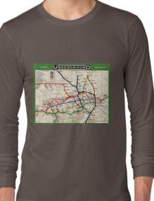 Map - London Underground Map - 1908 Long Sleeve T-Shirt