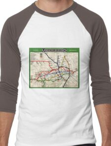 Map - London Underground Map - 1908 Men's Baseball ¾ T-Shirt