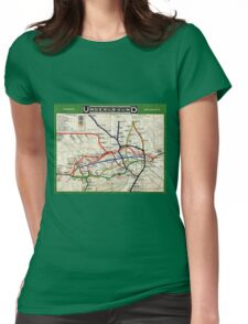 Map - London Underground Map - 1908 Womens Fitted T-Shirt