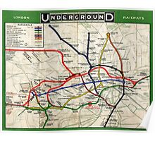 Map - London Underground Map - 1908 Poster