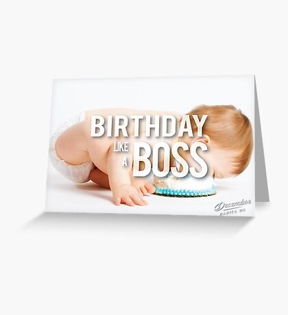 Birthday Like A Boss - Cake Faceplant Greeting Card