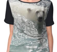 This bear is too chill Chiffon Top