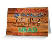 Bathroom Sign Greeting Card