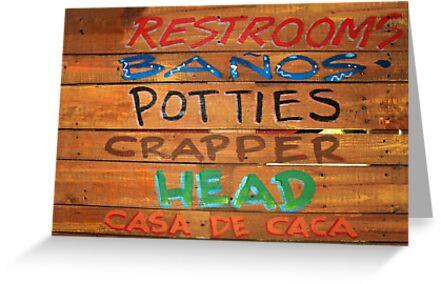 Bathroom Sign by James Eddy