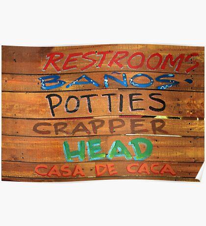 Bathroom Sign Poster