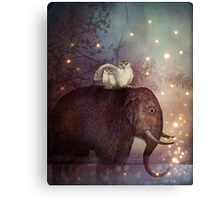 Riding through the Night Canvas Print