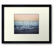 Let's Run Away x Arcadia Beach Framed Print