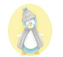 Pinguin. Winter. Weihnachten.  Photographic Print