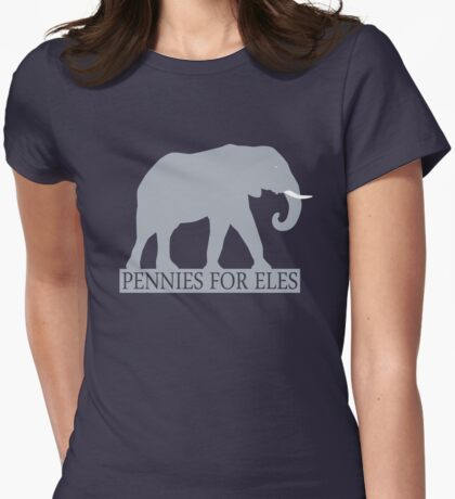 Pennies for Eles - Salvation through Conservation Womens Fitted T-Shirt