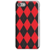 Red and Black Argyle iPhone Case/Skin